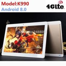2019 новые K990 10,1 дюймов tablet MTK8752 8-ядерный планшет на базе Android 4 ГБ Оперативная память 64 ГБ Встроенная память Dual SIM gps Android 8,0 10 Tablet PC