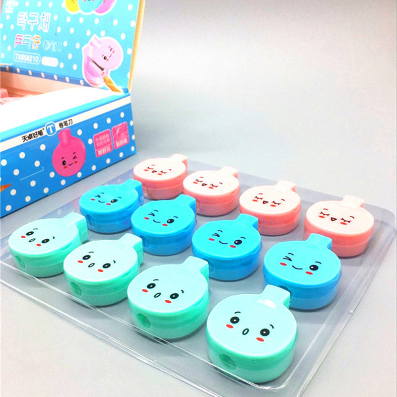 Kawaii Plastic Pencil Sharpener Candy Color Ping Pong Pencil Sharpener For Kids Gifts Office School Supplies Korean Stationery