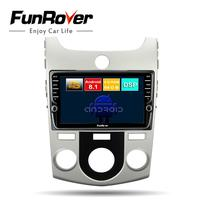 Funrover android 8.1 octa core car dvd multimedia player For KIA Forte Cerato 2008 2012 radio gps player 4G+64G split screen DSP