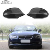 1 Pair Heated Mirrors Carbon Fiber Side Wing Rearview Mirror Case Cover Caps for BMW 3 Series E90 Facelift 328i 323i 335d 335i