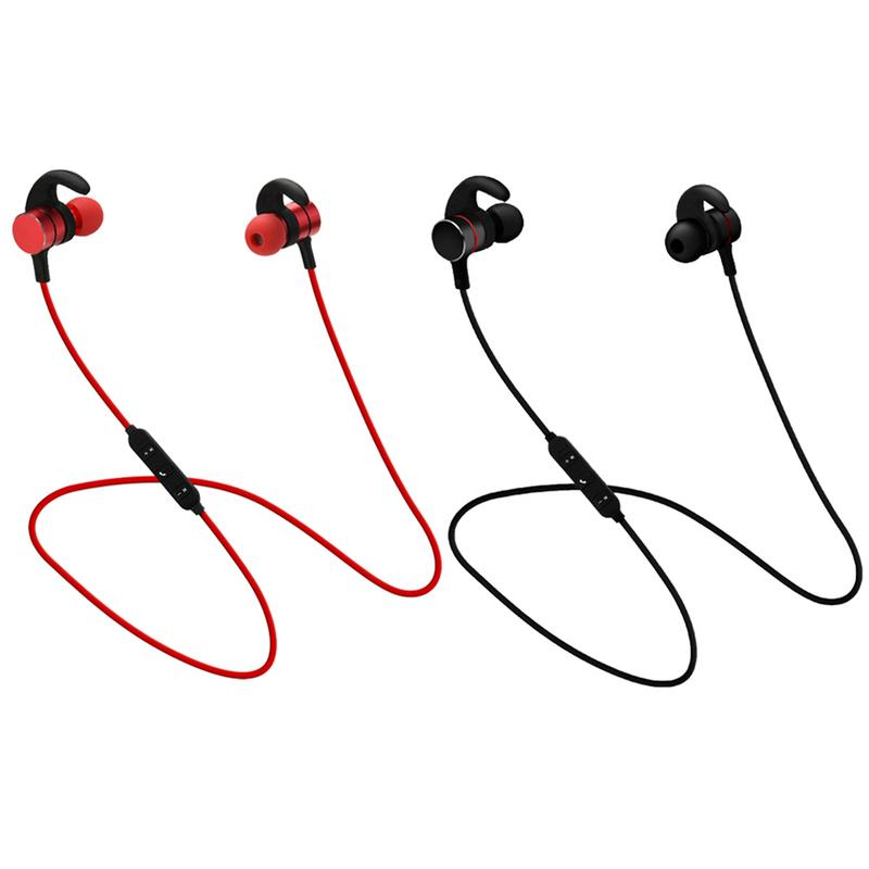 Portable Earphones Wireless Bluetooth Metal Earbud Stereo Hd Sport Sweat proof Magnetic Stereo Hd Devices Universal Mobile Phone-in Bluetooth Earphones & Headphones from Consumer Electronics