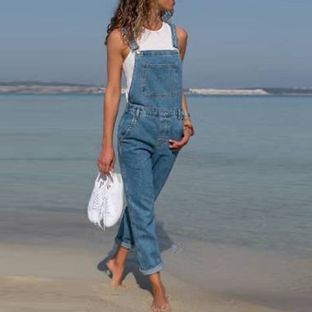 8798cfdb66ab 2019 New Fahsion Women s Pants Woman Casual Jeans Fashion Long Denim  Trousers Female Elegant Slim Fits Jumpsuits Dungarees Jeans-in Jeans from  Women s ...