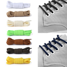 1Pair Polyester Solid Shoelace Classic Round Shoelaces Casual Sportshoes Boots Lace Fashion Nylon Shoes Accessories