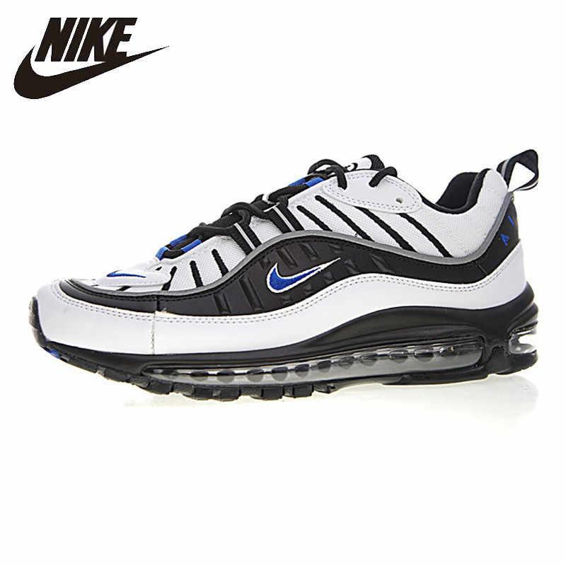 3d38594a26e Nike Air Max OG 98 Gundam Men s Running Shoes White   Black Cushion  Wear-resistant