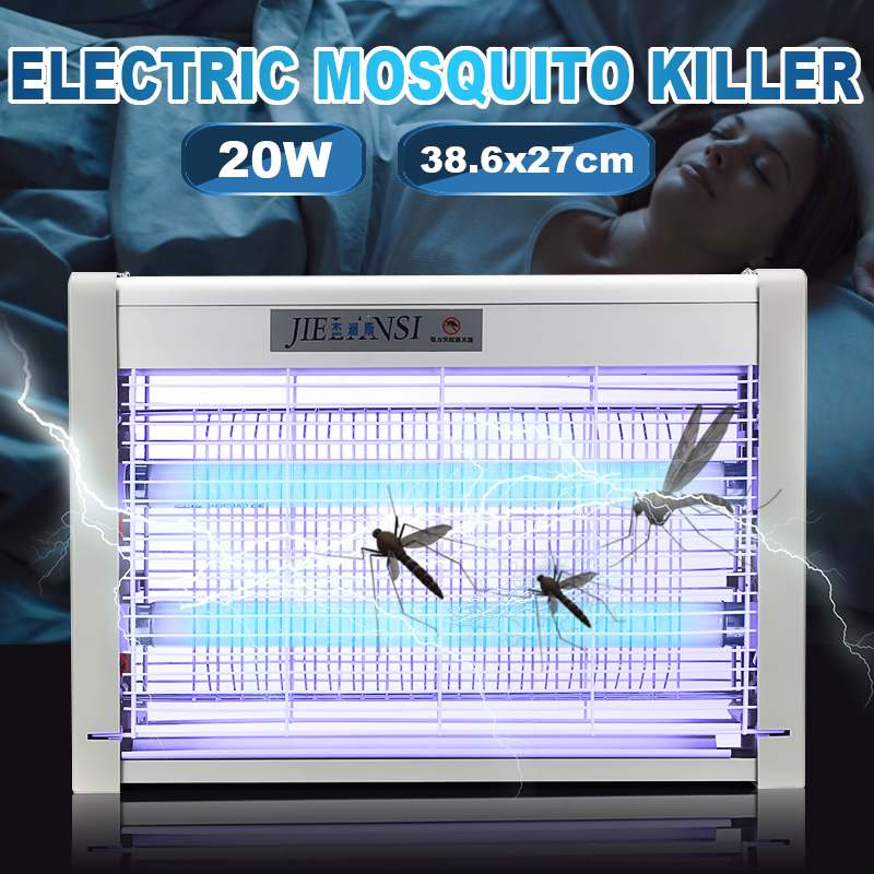 220V Electric Shock Mosquito Killer Lamp LED Outdoor Night Light Insect Bug Zapper Trap Anti Mosquito Fly Indoor Pest Traps