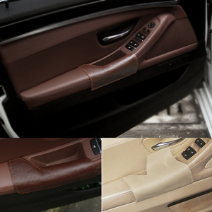 Image 1 - Left Driving Side Cow Leather Door Armrest Handle Pull Protection Cover for BMW 5 Series F10 2011 2012 2013 2014 2015 2016 2017