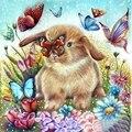 Кролик бабочка друзья 5D алмазная картина полная дрель для домашнего декора 30x30 см