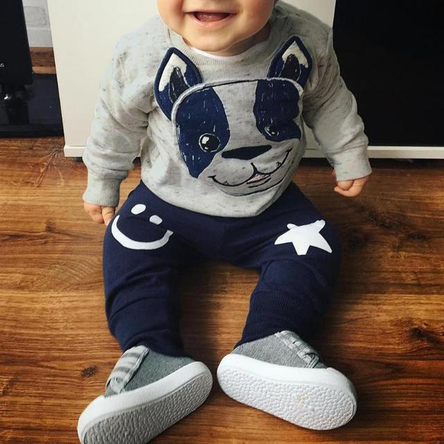 f8c97b03966a0 Baby Boys Clothes 2019 Spring Autumn Cartoon Leisure Long Sleeved T-shirts  + Pants Newborn Baby Girl Clothes Kids Bebes Suits