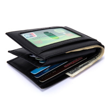 New Genuine Leather Slim Wallet Men Money Bag RFID Blocking Anti-theft Credit Card Holder Coin Purse Pocket Clutch Wallets Male цена и фото
