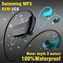 100% Waterproof Mp3 Player Swimming Earphones Surfing IPX8 Sport Earbuds 4G 8GB RAM Portable headphones USB Music Speaker