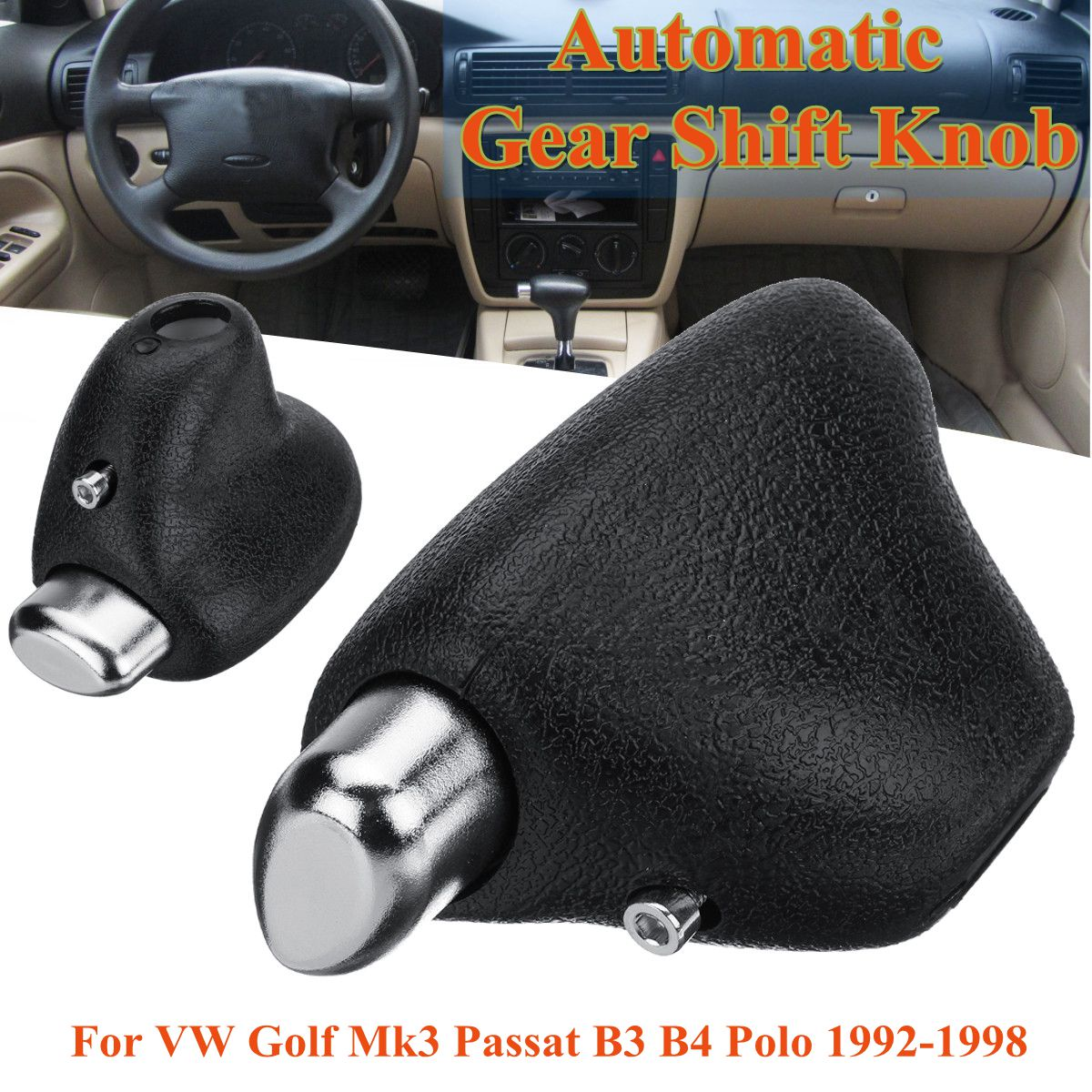 Automatic Transmission Car <font><b>Gear</b></font> Shift <font><b>Knob</b></font> Lever Shifter Head For <font><b>VW</b></font> <font><b>Golf</b></font> <font><b>Mk3</b></font> Passat B3 B4 Polo 1992-1998 image