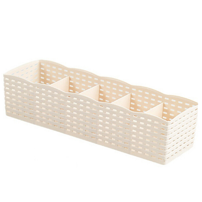 Compartments:  2pcs Creative Home Socks Underwear Storage Box Simple Fashion Drawer Organizers With Five Compartments Portable Home Storage - Martin's & Co