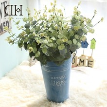 Dream House DH Flowers Artificial Eucalyptus Plastic Plants Leaf Succulents Home Decoration Accessories Jungle Party Decorations