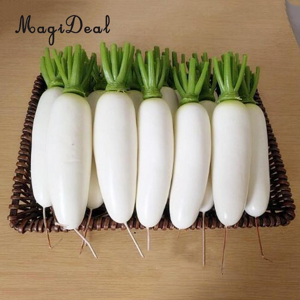 Large Artificial Foam Faux Carrot Bundle with Green Tops for Easter Decorations 13 Including Greens