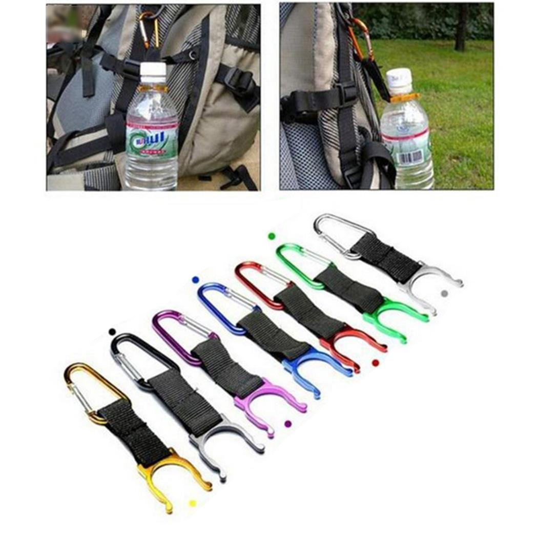 Buckle Climbing Hiking survival camping Carabiner Hook Water 1pc Bottle tools Clip Traveling Holder For Camping