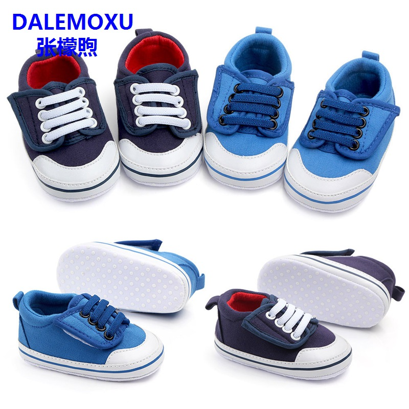 DALEMOXU Newborn Baby Tennis Boy Girl Shoes Toddler Infant Casual Shoes Denim Soft Sole Baby Prewalker Boy Shoes For 1 Year Old
