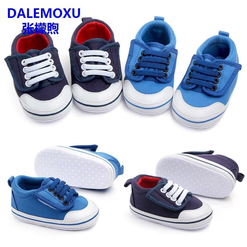 DALEMOXU Newborn Baby Tennis Boy Girl Shoes Toddler Infant Casual Shoes Denim Soft Sole Baby Prewalker Boy Shoes For 1 Year Old