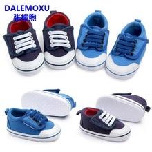 цена на DALEMOXU Newborn Baby Tennis Boy Girl Shoes Toddler Infant Casual Shoes Denim Soft Sole Baby Prewalker Boy Shoes For 1 Year Old