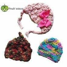 New Born Baby Hat Girls Boy Hats Infant hat made of wool good soft 100% Handmade Kids