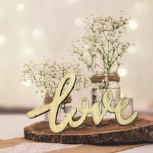 15 unids/set de confeti de madera para mesa de amor decoración Vintage rústica DIY decoración para fiesta de boda