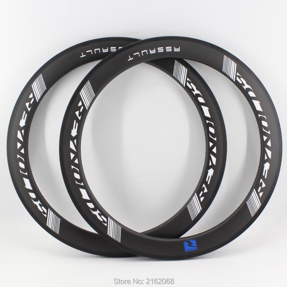 2Pcs New blue 700C 38 50 60mm Road bicycle matt UD full carbon fibre tubular clincher
