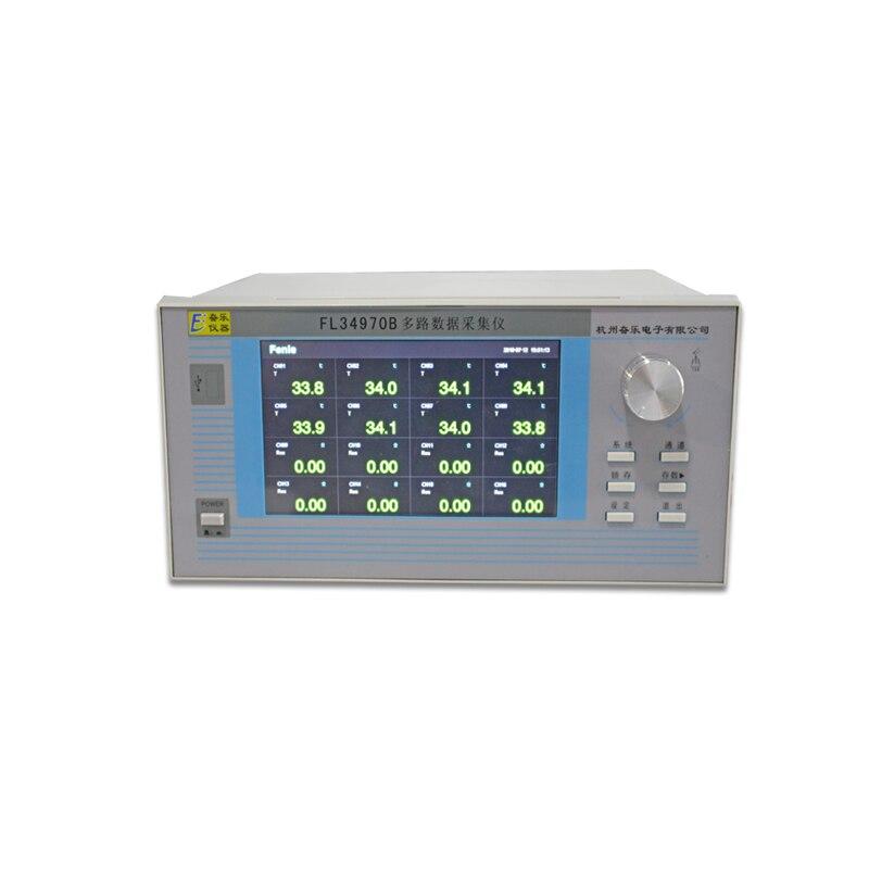 FL34970B Multichannel Data Acquisition Instrument Resistance Temperature Tester Multichannel Paperless Pressure Recorder