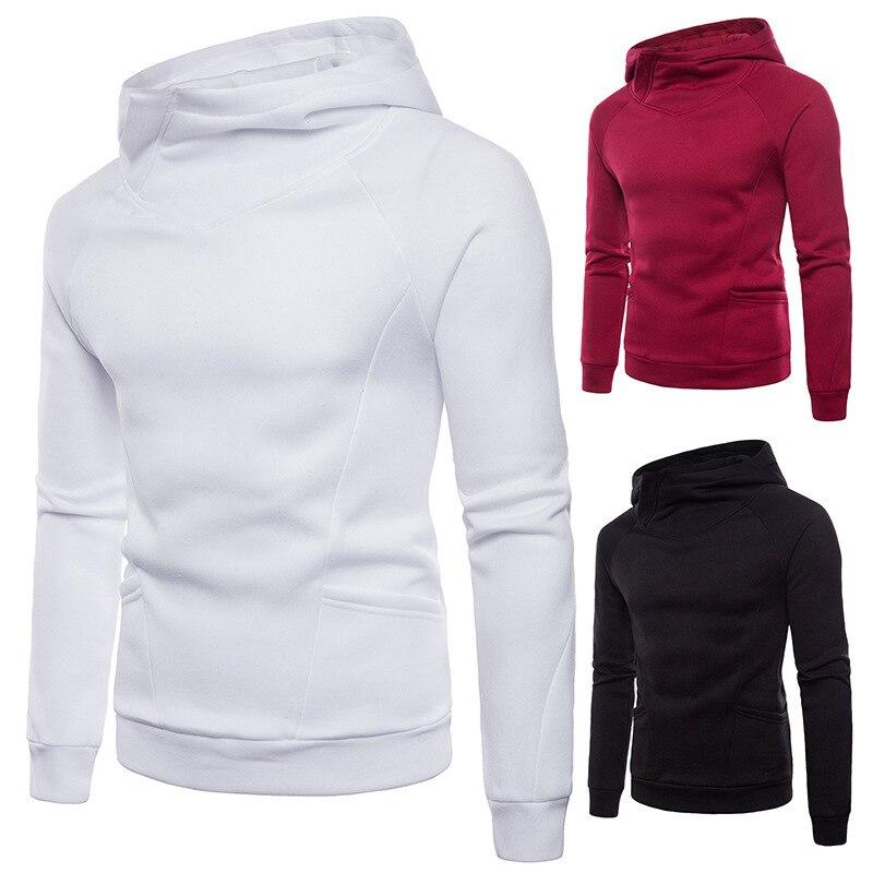Mens Autumn Winter Pullover Hoodie Men Casual Long Sleeve Hooded Streetwear Fashion Hoodies Hoody Style 3 Color