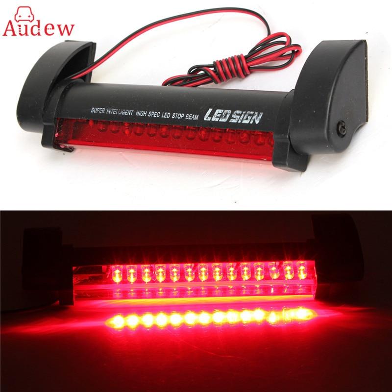 Universal 12V 14 LED High Mount Stop Rear Tail Warning Light Lamp Red Car Auto Third 3RD Brake Light Parking Red
