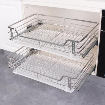 Стойка для посуды, органайзер для кухни, органайзер для кухни, корзина для хранения кухонного шкафа