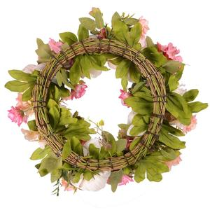 Image 2 - Grinalda artificial da peônia da grinalda da flor grinalda da mola da grinalda da porta de 16 polegadas para a porta da frente, casamento, casa d