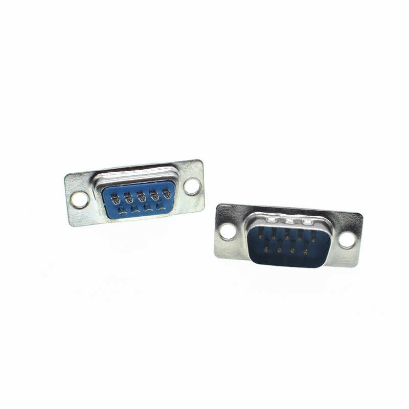 RS232 Serial Port Konektor DB9 Wanita Pria Socket Shell Plastik Plug Konektor 9pin COM Soket Adaptor