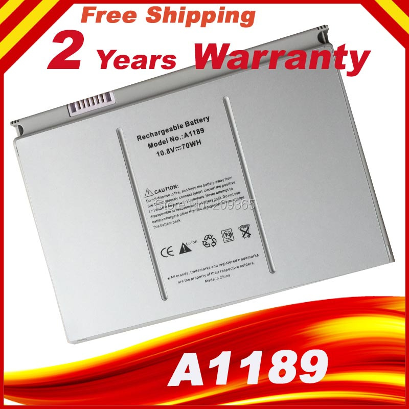 HSW 6600mAh Laptop Battery A1189 For Apple MacBook Pro17 Inch MA092T MA897X/A MA611B A1151 Battery A1212 A1229 A1261 Battery