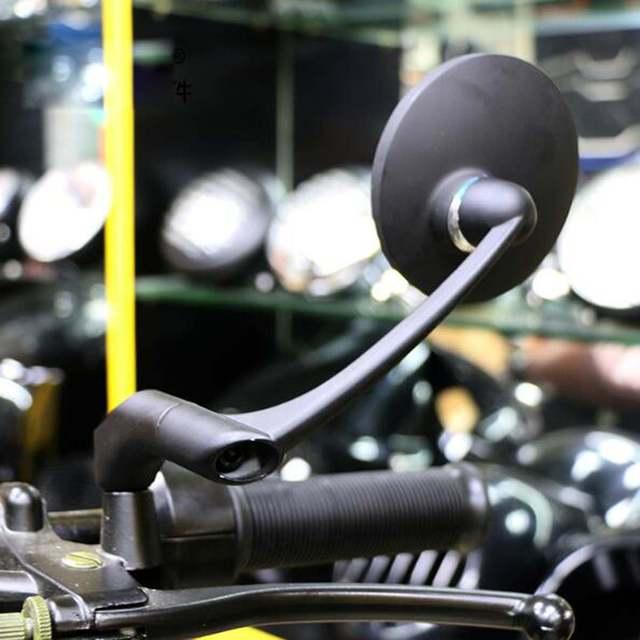 Motocykl lusterko wsteczne boczne ze śrubami 8/10mm uniwersalny okrągły Retro zmodyfikowany motocykl cafe racer lusterka wsteczne