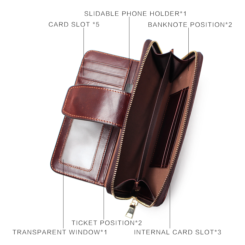 Image 5 - Business Clutch Bag Detachable Wristband Men Wallet Slidable 