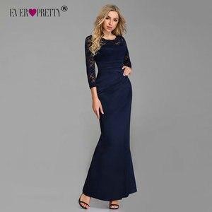 Image 2 - ערב שמלות ארוך פעם די ארוך שרוול חורף O צוואר תחרה בת ים סקסי אירוע מיוחד מסיבת שמלות לאורחי חתונה