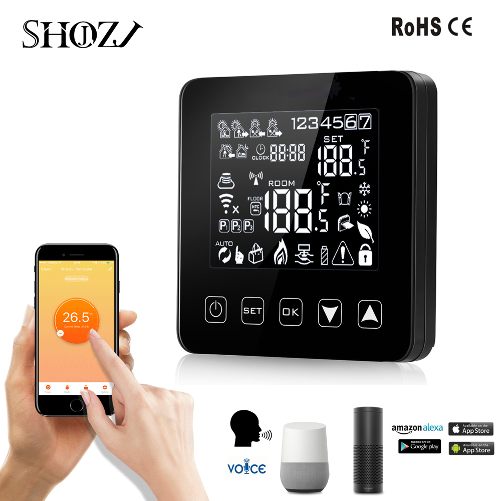 WiFi intelligent Heating thermostat Alexa voice control Electric Floor Heating Programmable Thermostat Temperature Controller