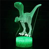 Light up 3D Shape LED Light Dinosaur 2W Dinosaur Toy Touch Night Picture As Kids Control 5V