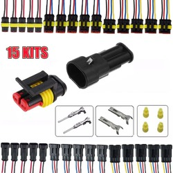 KROAK 15 zestawy 2 3 4 szpilki sposób AMP Sealed wodoodporna elektryczny wtyczka złącze drutu samochodu Auto