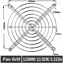 2pcs Gdstime 13.5cm 135mm 135x135mm Irom Mesh Fan Grill Computer PC Case Protector Cover Metal Finger