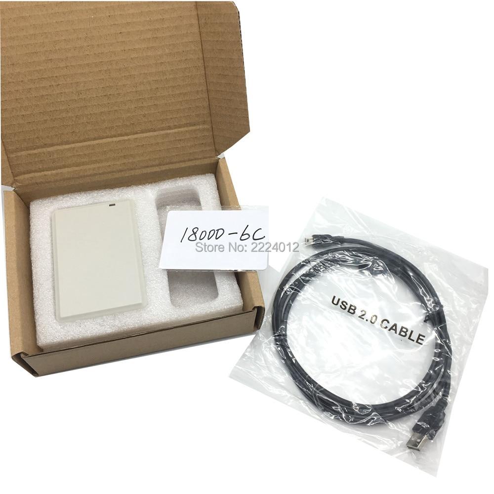 все цены на NEW ISO18000 860Mhz~960Mhz UHF RFID ISO 18000 6C 6B Reader Writer for 18000-6B 18000-6C copier cloner EPC GEN2 with SDK Kit онлайн