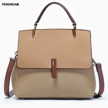 lady shoulder Bag female wild Messenger commuter bags women large capacity leather handbag simple bag Korean style new fashion цена 2017
