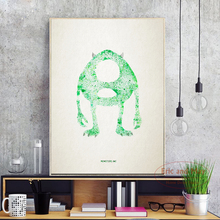 Monsters Watercolor Splashing Movie A4 Canvas Painting Art Print Poster Wall Paintings Modern Home Decor