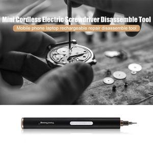 Image 3 - Destornillador eléctrico inalámbrico recargable, herramienta de reparación de teléfonos, destornillador eléctrico de aleación