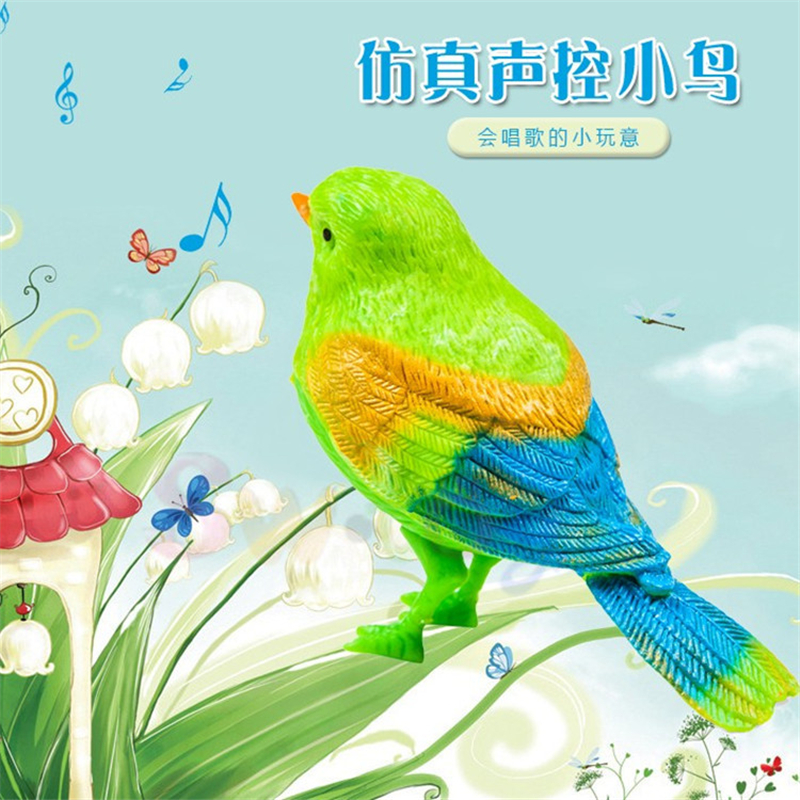 Electronic Children Toys, Sound-controlled Birds, Open Chirping, Chirping, Birds, Interesting Gifts Toys, Garden Landscape Pets