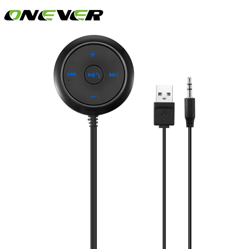 Bluetooth Receiver Hands Free Car Kit Wireless Music Adapter: Onever Bluetooth Audio Receiver 3.5mm Wireless Car Music