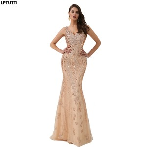 Image 1 - LPTUTTI Sequin Beading Crystal New For Women Elegant Date Ceremony Party Prom Gown Formal Gala Luxury Long Evening Dresses 14
