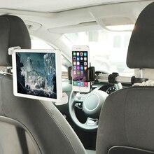 """7 11 """"auto Zurück Sitz Tablet Halter Aluminium Tablet Telefon Halter Stehen Halterung Einstellbare für iPhone iPad Samsung xiaomi Kindle"""