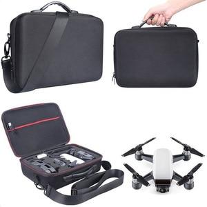 Image 4 - 2018 חדש נייד Drone מקרה EVA קשיח מעטפת כתף תיק אחסון שקיות ידית תיבת לdji ניצוץ Drone אבזרים
