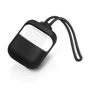 Image 3 - Silikon Sleeve Schutz Fall Anti Verloren Seil Anti Drop Kopfhörer Abdeckung Shock Proof Headsets Tragbare Mini Tasche Für airpods