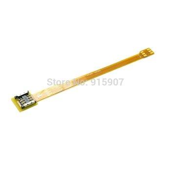 10pcs/lot   10cm Micro SIM Card to Nano SIM Kit Male to Female Extension Soft Flat FPC Cable Extender